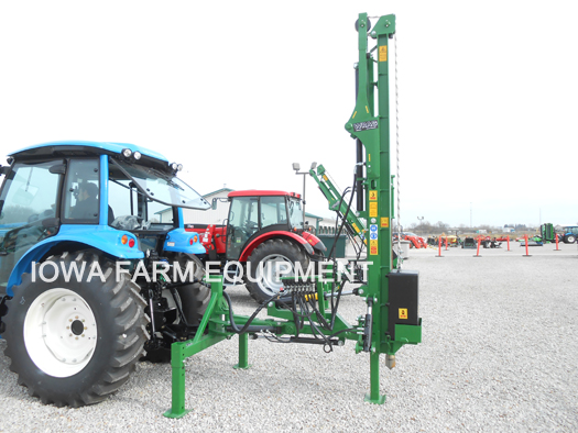 Hydraulic Post Drivers For Tractors : Wrag basic xl series hydraulic post drivers iowa farm